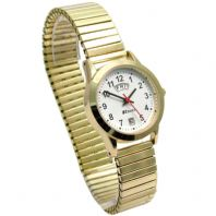 Ladies Ravel Quartz Day-Date Watch with Expanding Bracelet Goldtone R0706.19.2EX